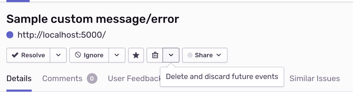 Delete and discard issues